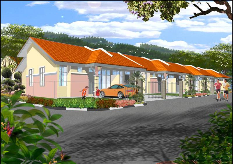 Rumah Taman Merbau Utama Kok Lanas Teres Kos Sederhana