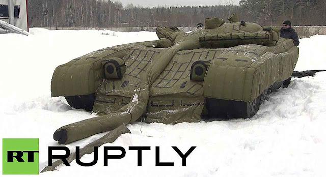 O tanque T80 anda não está pronto para enganar satélites americanos