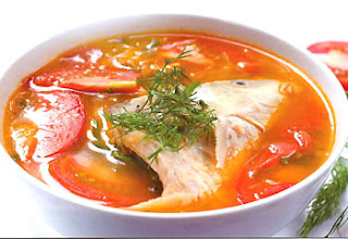 Canh chua cá diêu hồng