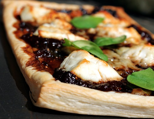 Feta Tart with Fig & Plum Relish
