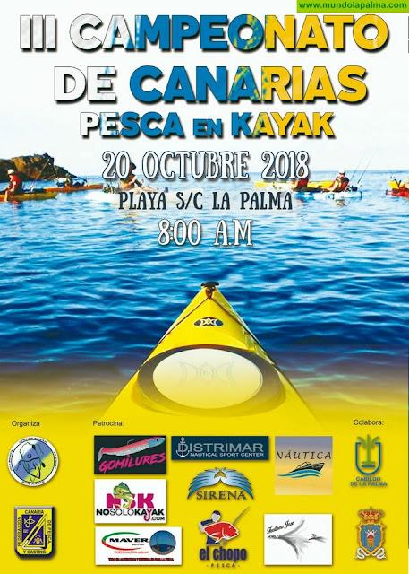 Santa Cruz de La Palma acoge el Campeonato de Canarias de Pesca en Kayak