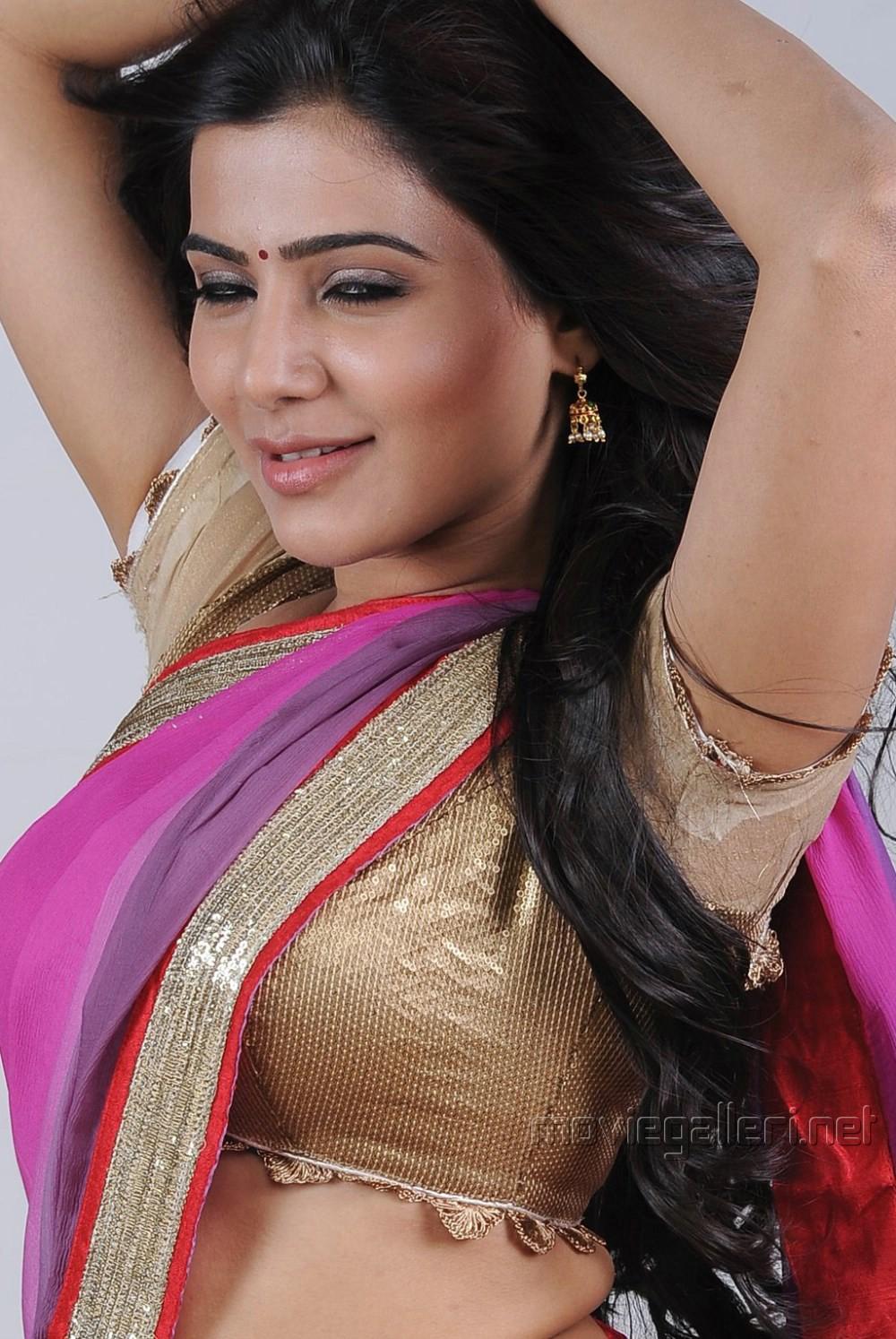 Samantha In Saree: Actress Samantha Photoshoot Stills In Violet Saree