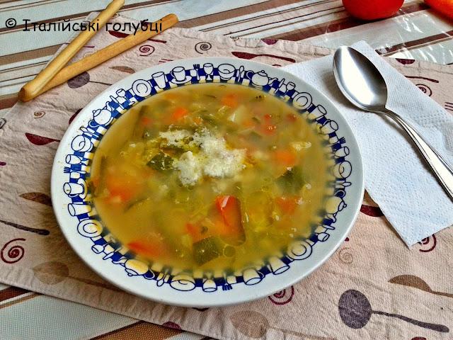 італійський суп мінестроне рецепт