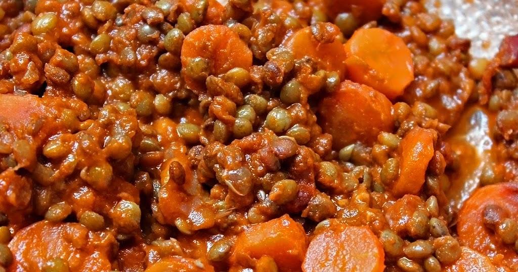 La Cuisine De Myrtille Ragout De Lentilles Vertes Du Puy Au Coulis De Tomates
