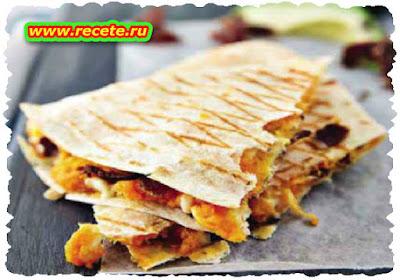 Sweet potato & biltong quesadillas
