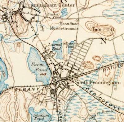 FRAMINGHAM MATTERS Old maps and aerial drawings of Framingham