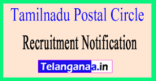 Tamil Nadu Postal Circle Recruitment Notification 2017