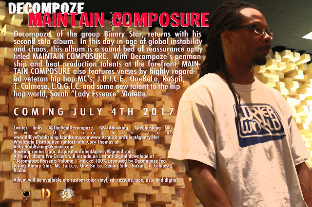 Decompoze's solo album 'Maintain Composure' Coming July 4th.