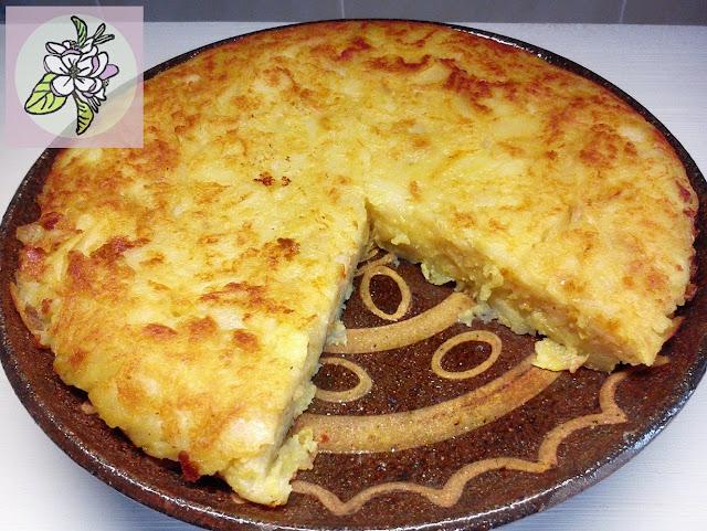 Versión Vegana de la Tortilla de Patatas Española.