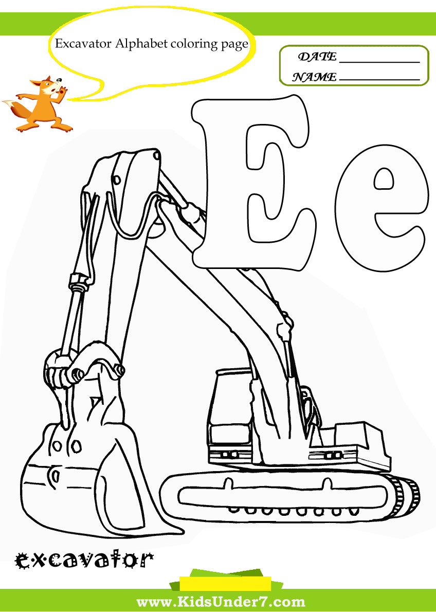 e coloring pages preschool - photo #20
