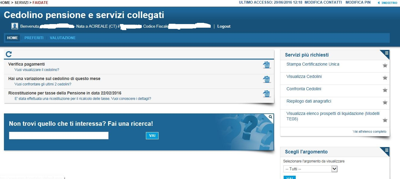 Lo Sportello: servizio di patronato on line : IL CEDOLINO ...