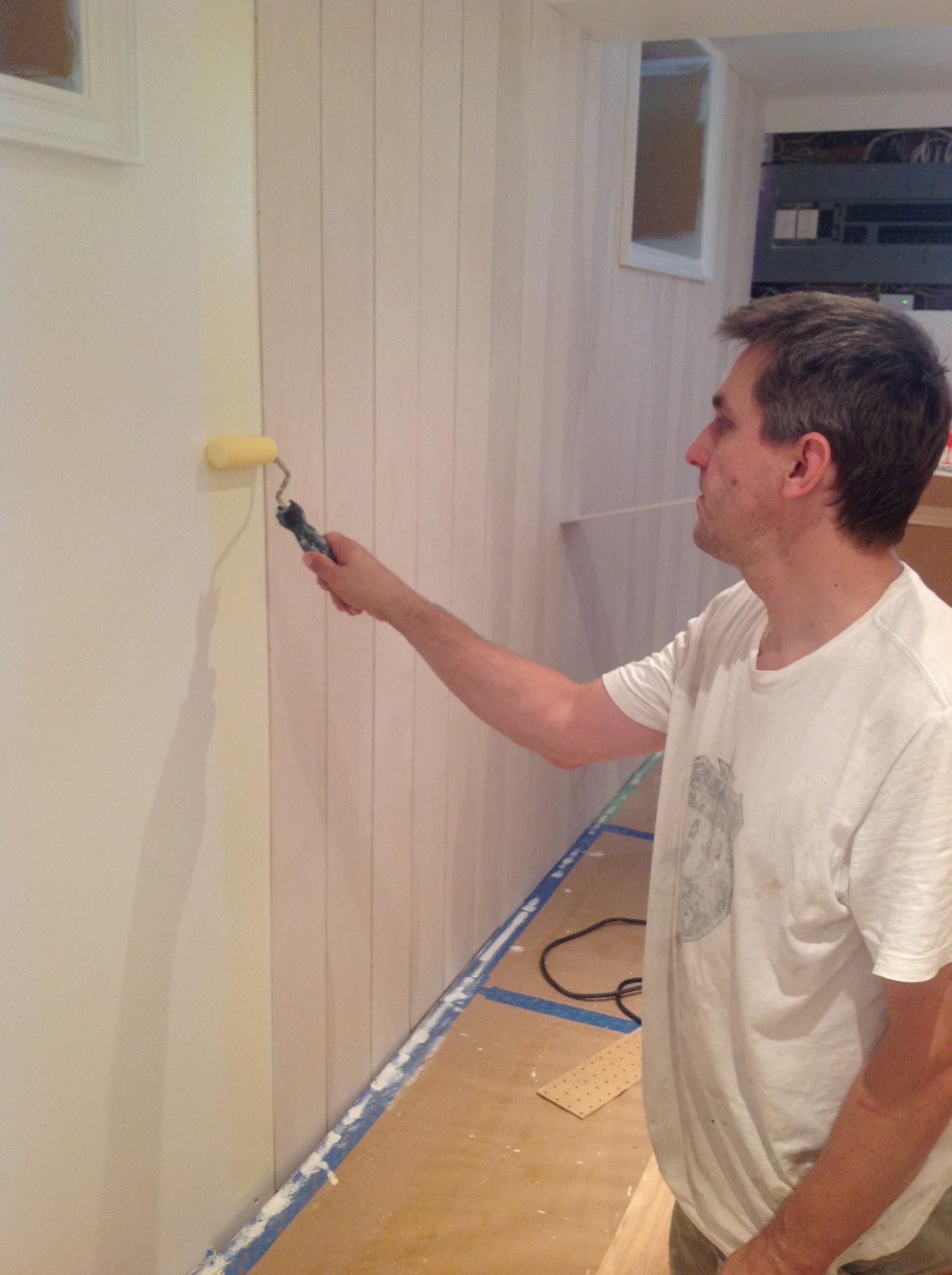 diy whitewash shiplap plank walls, plywood planks, whitewash wall planks
