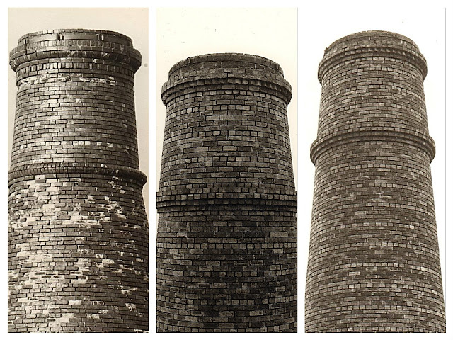 Bottle oven chimney ornamentation Photo: Terry Woolliscroft   Date: 1975