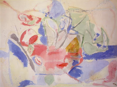 """""""Mountain and Sea"""" by Helen Frankenthaler, 1952"""
