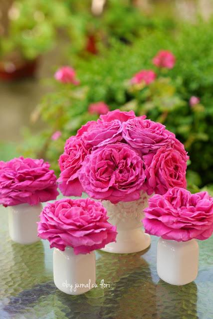 aranjamente cu #trandafiri roz de gradina