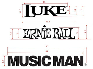 Music Man Luke headstock logos