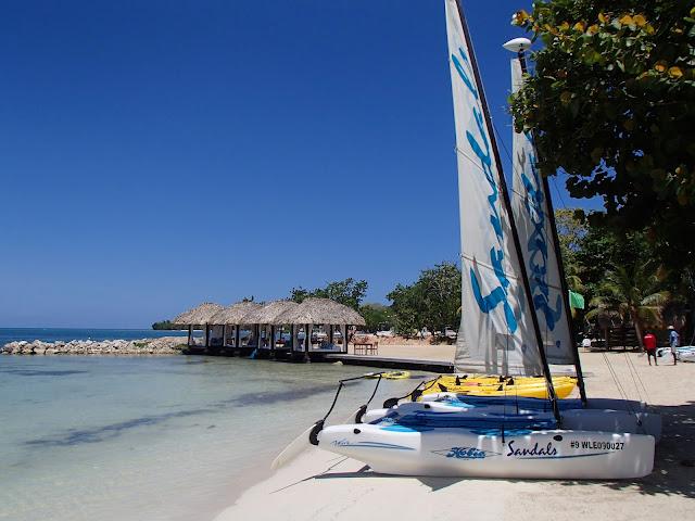 sailboats and cabanas