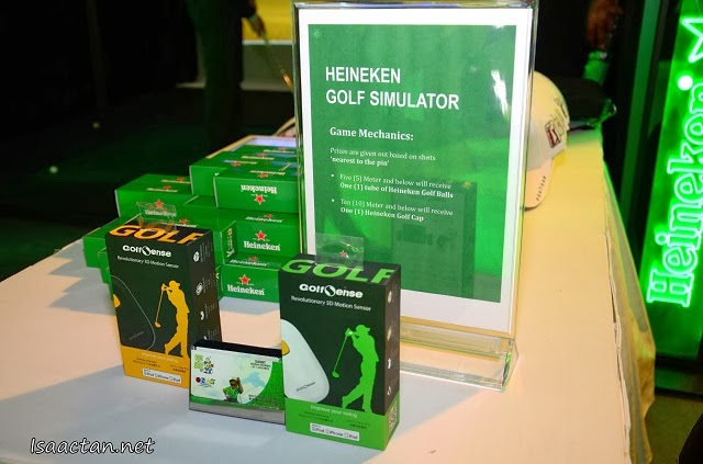 Win some goodies from playing the Heineken Golf Simulator