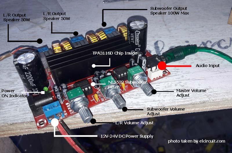 2 4 ohm dvc wiring to 1 ohm tpa3116 class d 2 1 power amplifier 2 50w 1 100w 2 1 ohm subwoofer wiring