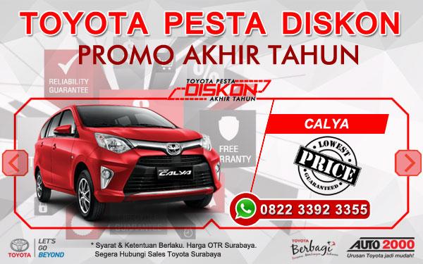 Promo Akhir Tahun Toyota Calya Surabaya