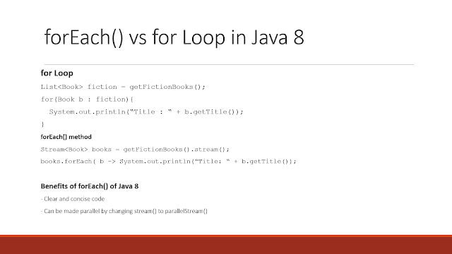 How to use forEach() method in Java 8? Examples