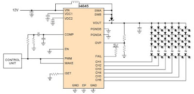 6 Channel LED Driver Circuit Diagram