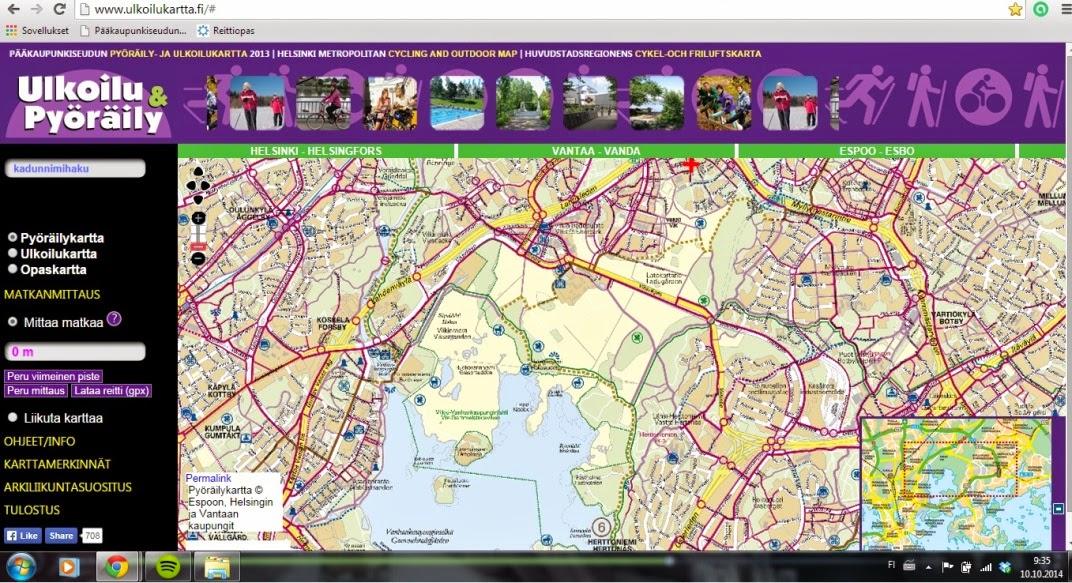 Jyväskylä pyöräilykartta