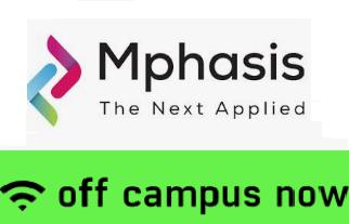 Mphasis Off Campus Drive 2019 | B.E/ B.Tech/ MCA Batches | Registration Link