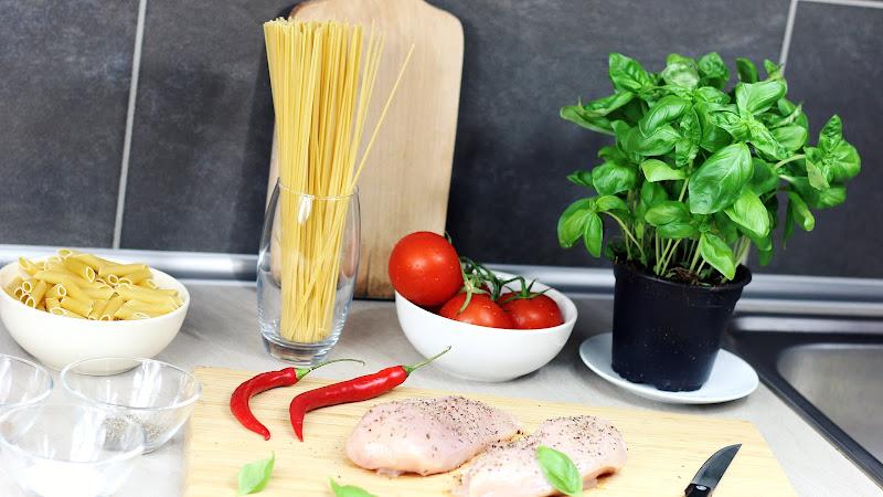 Preparing Food in Kitchen