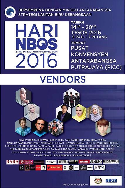 Bazaar Vendor Dan Artis Terkenal Di Hari NBOS 2016 PICC