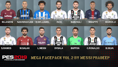 PES 2019 Facepack v2 by Messi Pradeep