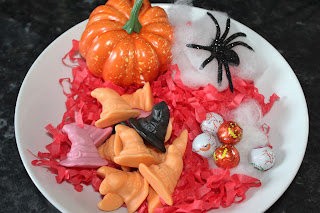 halloween, pumpkin, halloween decorations, spiders, chocolates, sweets, witches hats, PJ masks, party, party snacks, party food,