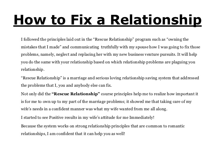 What to do when you have relationship problems