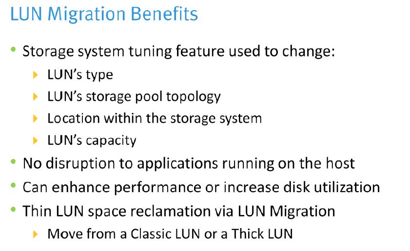 Discover Technology: EMC - VNX - LUN Migration