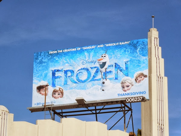 Disney Frozen movie billboard