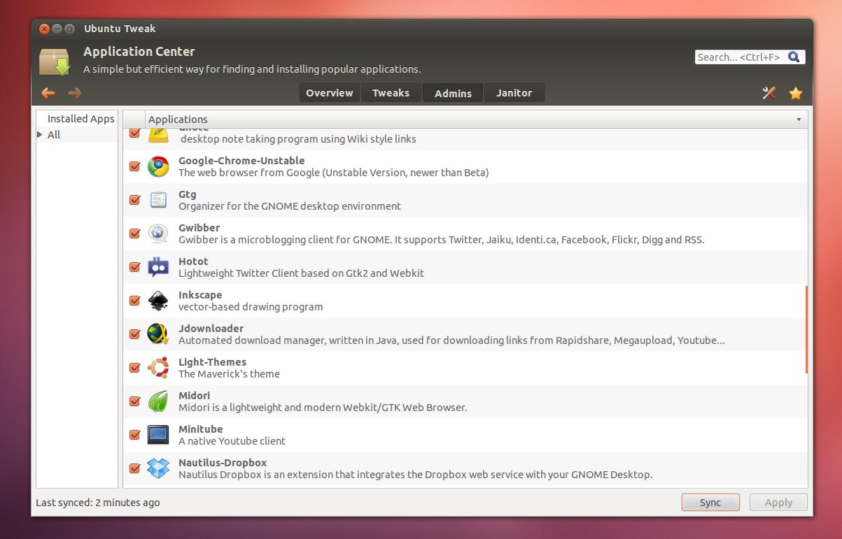 Ubuntu Tweak 0 7: App And Source Center Are Back, More Ubuntu 12 04