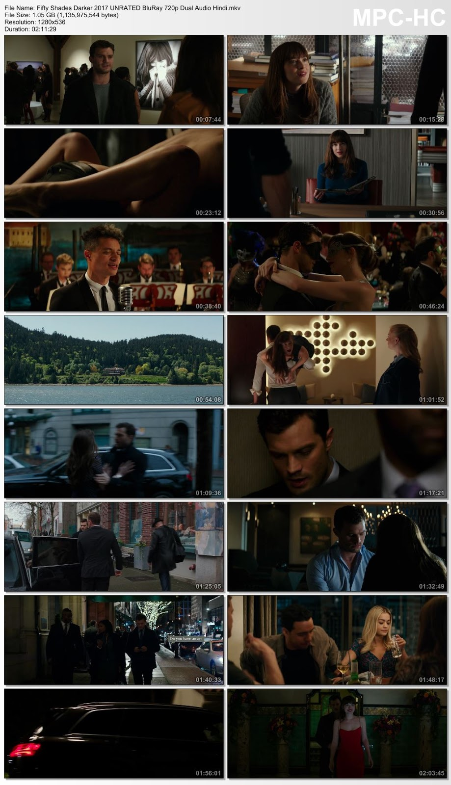Fifty Shades Darker (2017) UNRATED 720p BluRay Dual Audio [Hindi – English] 1GB Desirehub