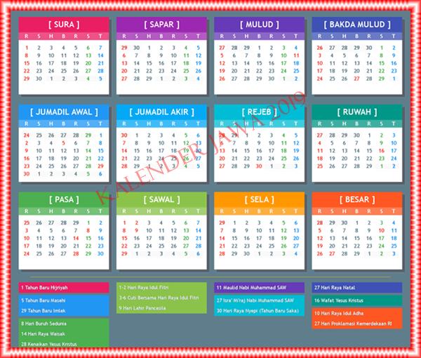 kalender jawa januari 2019 lengkap