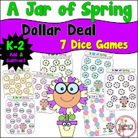A Jar of Spring Math Games Dollar Deal
