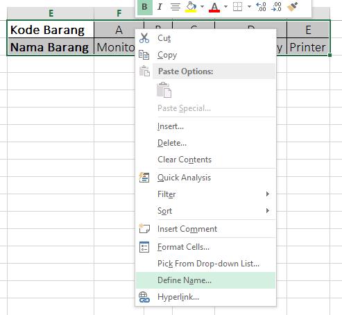 Cara Menggunakan HLOOKUP dan VLOOKUP di Excel