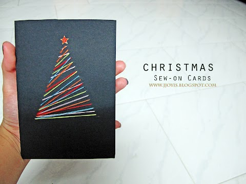 DIY: Easy Christmas Tree Sew-on Card