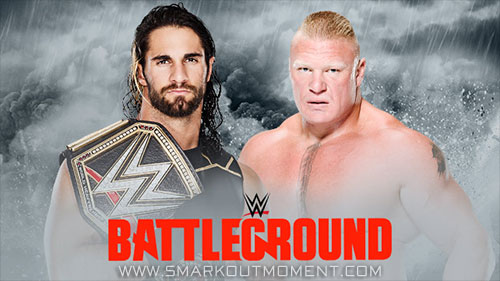 WWE Battleground 2015 World Heavyweight Championship Seth Rollins vs Brock Lesnar