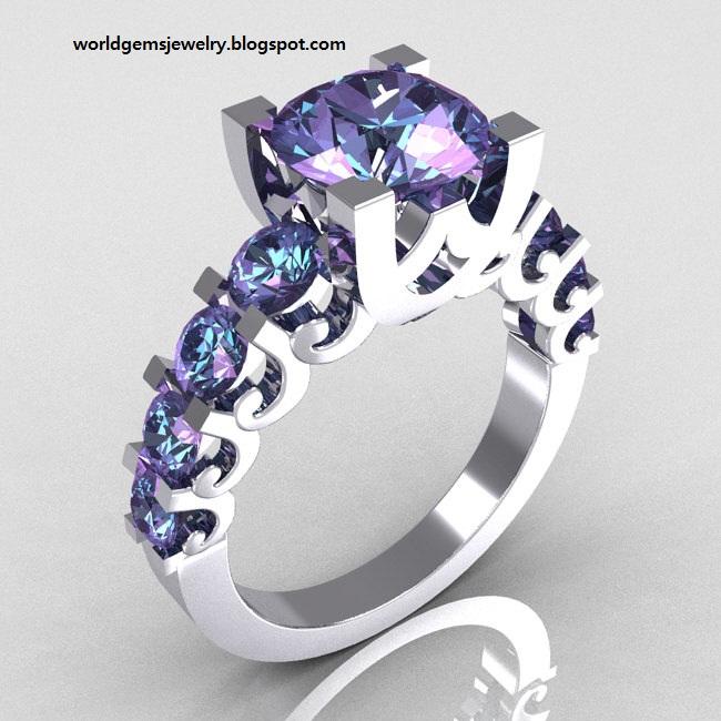 Engagement Ring : Alexandrite Engagement Rings 17