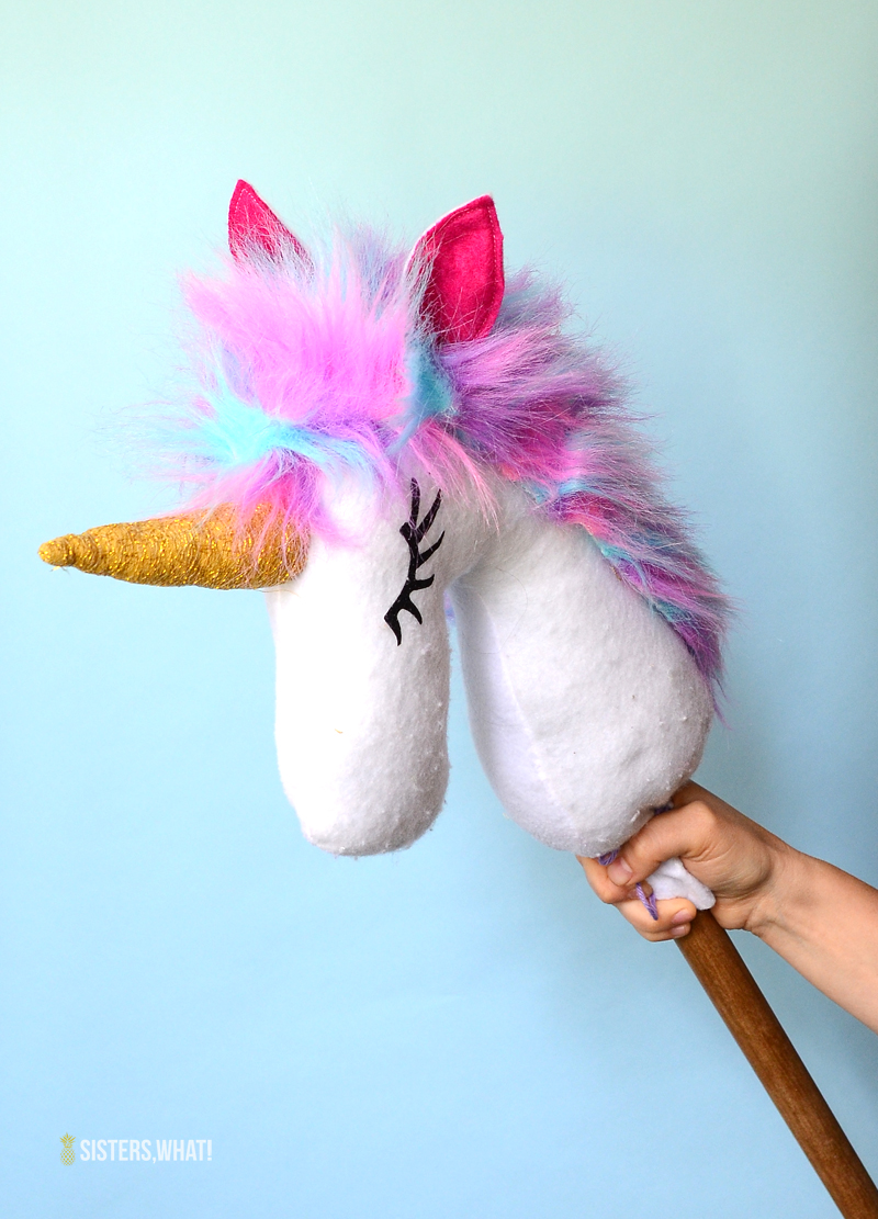DIY Unicorn hobby horse Free pattern heat transfer vinyl eyes