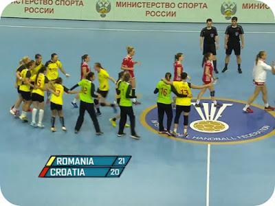 Romania Croatia 21-20 si... semifinale