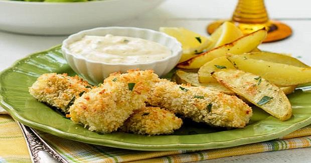 Crispy Fish Sticks With Roasted Potatoes Receipe