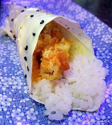 Umi Sushi crunchy shrimp hand roll