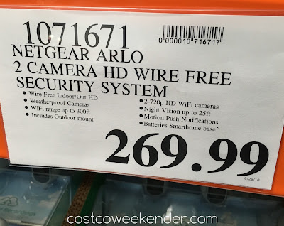 Deal for the Arlo Wire-Free Security Cameras at Costco