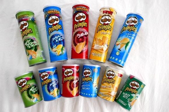 Pringles flavours 2017 in Japan