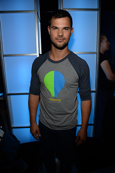 Taylor Lautner at the party Think It Up